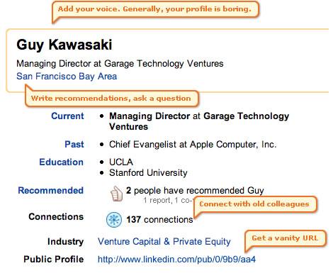 Guy Kawasaki LinkedIn Profile Extreme Makeover