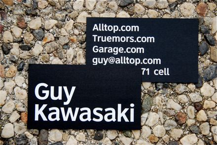 Guy kawasaki the art of the business card a few weeks ago i was in charlotte to make a speech for network solutions and i met justin ruckman he handed me his business cardwhich i just loved colourmoves