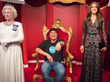 With the (wax) royal family in Madame Tussaud's in Sydney