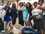 Hanging with buddies at BlogHer