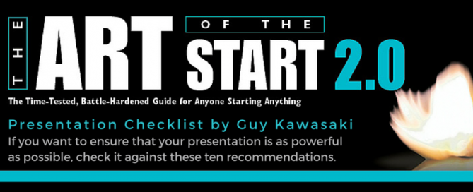 The Art of the Start 2.0 Presentation Checklist