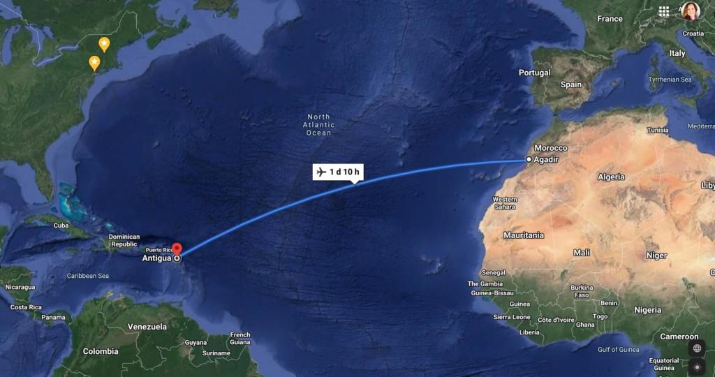 Chris Bertish's journey across the Atlantic