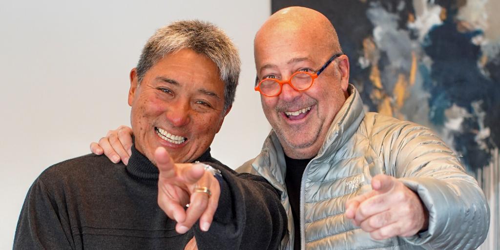 Andrew Zimmern and Guy Kawasaki
