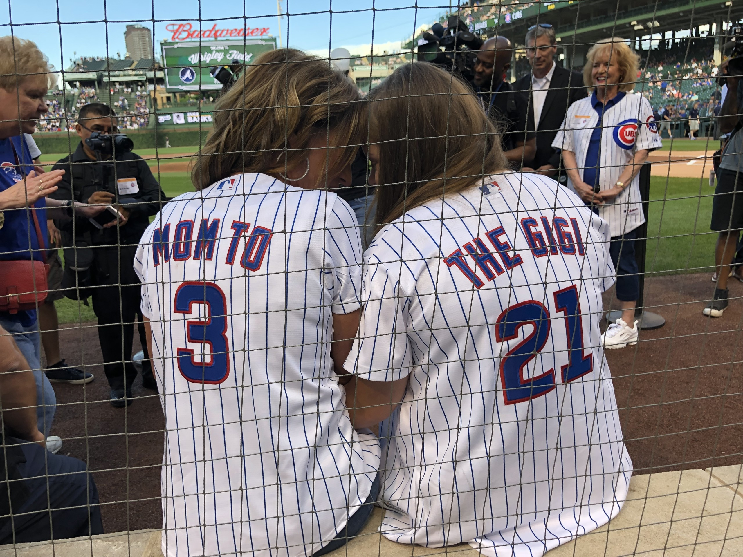 Nancy and GiGi Gianni at the Cubs game