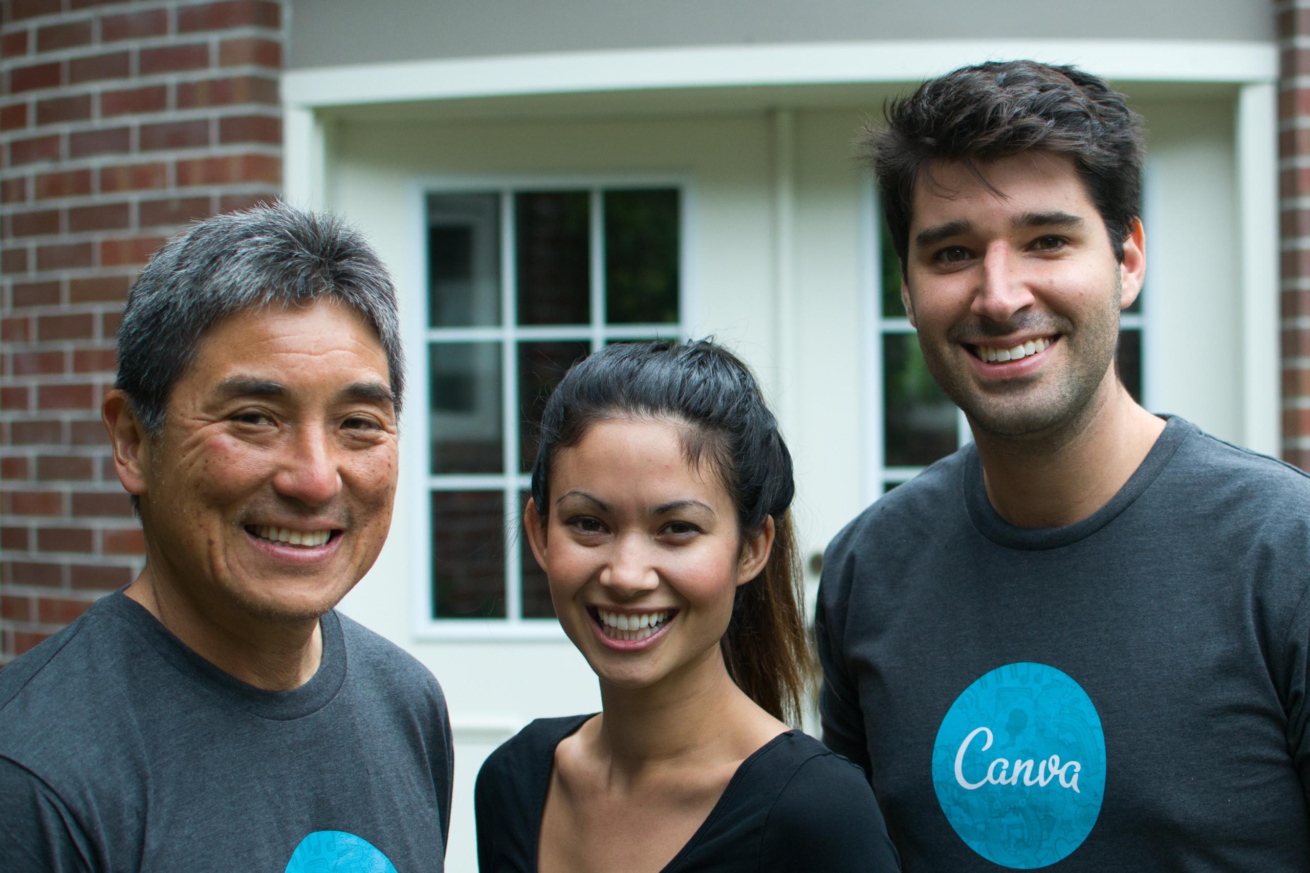 Canva team with Guy Kawasaki
