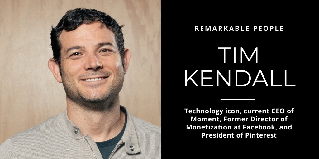 Tim Kendall on Remarkable People podcast