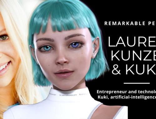Lauren Kunze and Kuki, AI chabot